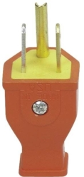Cooper SA399O Grounded Straight Electrical Plug