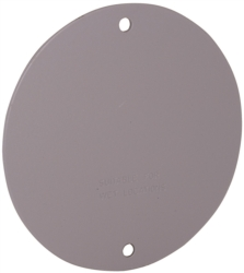 Hubbell 5374-0 Blank Round Flat Weatherproof Cover