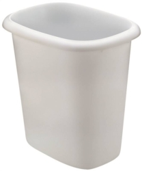 Rubbermaid 295300 WHT Vanity Waste Basket