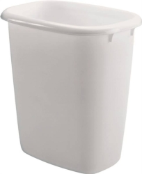 Rubbermaid 295800WHT Vanity Waste Basket