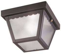 Boston Harbor 6276BK3L Impact Porch Light Fixture
