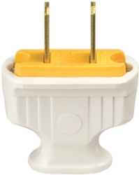Cooper 1912W-BOX Non-Grounded Flat Handle Electrical Plug
