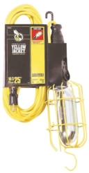 Woods 2893 Work Light With Outlet and Metal Guard