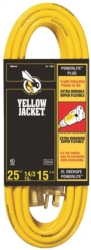 Yellow Jacket 2886 SJTW Extension Cord With Powerlite Indicator Plug