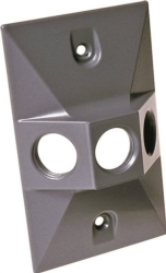 Hubbell 5189-0 3-Hole Cluster Lampholder Cover