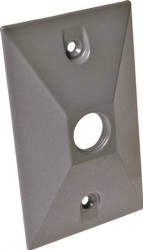 Hubbell 5186-0 1-Hole Cluster Lampholder Cover