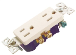 Cooper 1107W Grounded  Duplex Receptacle