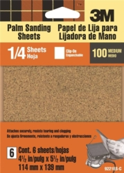 3M 9221NA Clip-On Palm Sanding Sheet