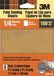 3M 9220NA Clip-On Palm Sanding Sheet