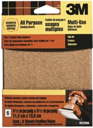 3M 9223NA Clip-On Assorted Palm Sanding Sheet Kit
