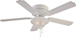 Boston Harbor CF-B-652+1F242WH Hugger Low Profile Ceiling Fan