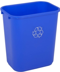 Continental 2818-1 Rectangle Wastebasket