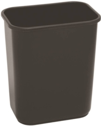 Continental 2818BK Rectangle Wastebasket