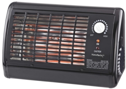 HEATER ELECTRIC RADIANT BLACK