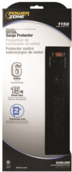 Powerzone OR802135 Surge Protector Strip