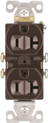 Arrow Hart CR20B Grounded Duplex Receptacle