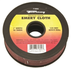 CLOTH EMERY 120GRIT 1INX10YARD