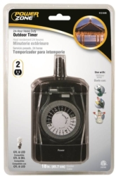 Powerzone TNO24111 Outdoor Electromechanical Timer