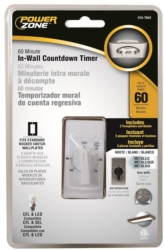 Powerzone TNIW060 In-Wall Indoor Thumbdial Spring Wound Timer
