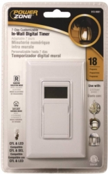 Powerzone TNDIW07D Indoor In-Wall Timer