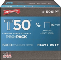 T50 Pro-Pack 506IP Flat Crown Staple