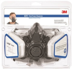 3M Tekk Protection Dual Cartridge Paint Project Respirator