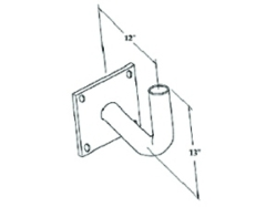 Curved wall bracket CWB
