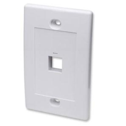 1Outlet White Blank Wall Plate