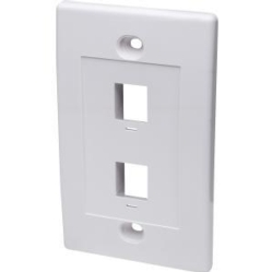 2 Outlet Keystone Jack Wallplt