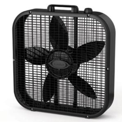 20in Box Fan 3spd Black