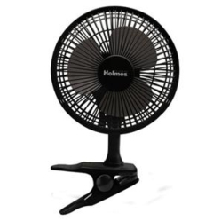 "H 6"" Clip Table Fan Black"