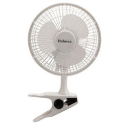 "H 6"" Clip On Table Fan White"