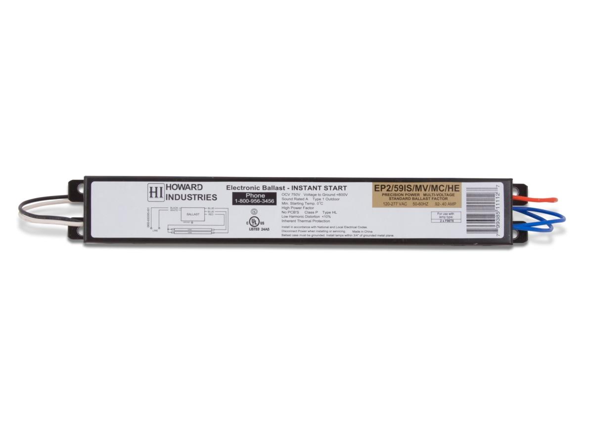 Electronic Fluorescent Ballast EP2/59IS/MV/MC/HE