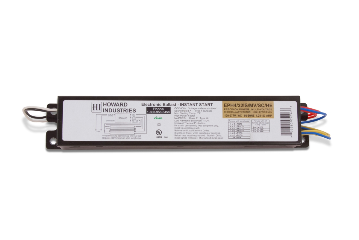 T8 Fluorescent Ballasts 4 Lamp F32t8 Electronic Ballast Wiring A Bulb Larger Photo