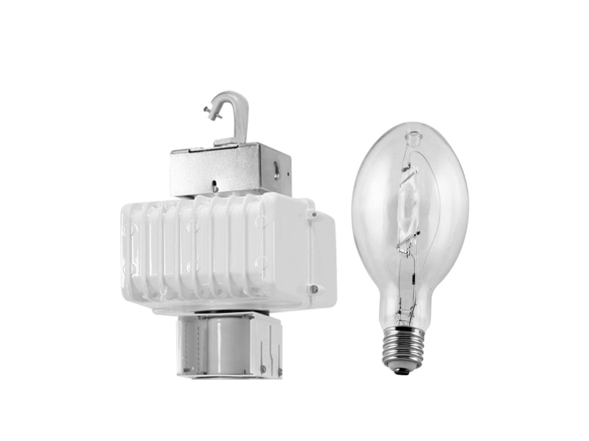 Hid industrial fixtures 400w metal halide high bay fixture head with lamp