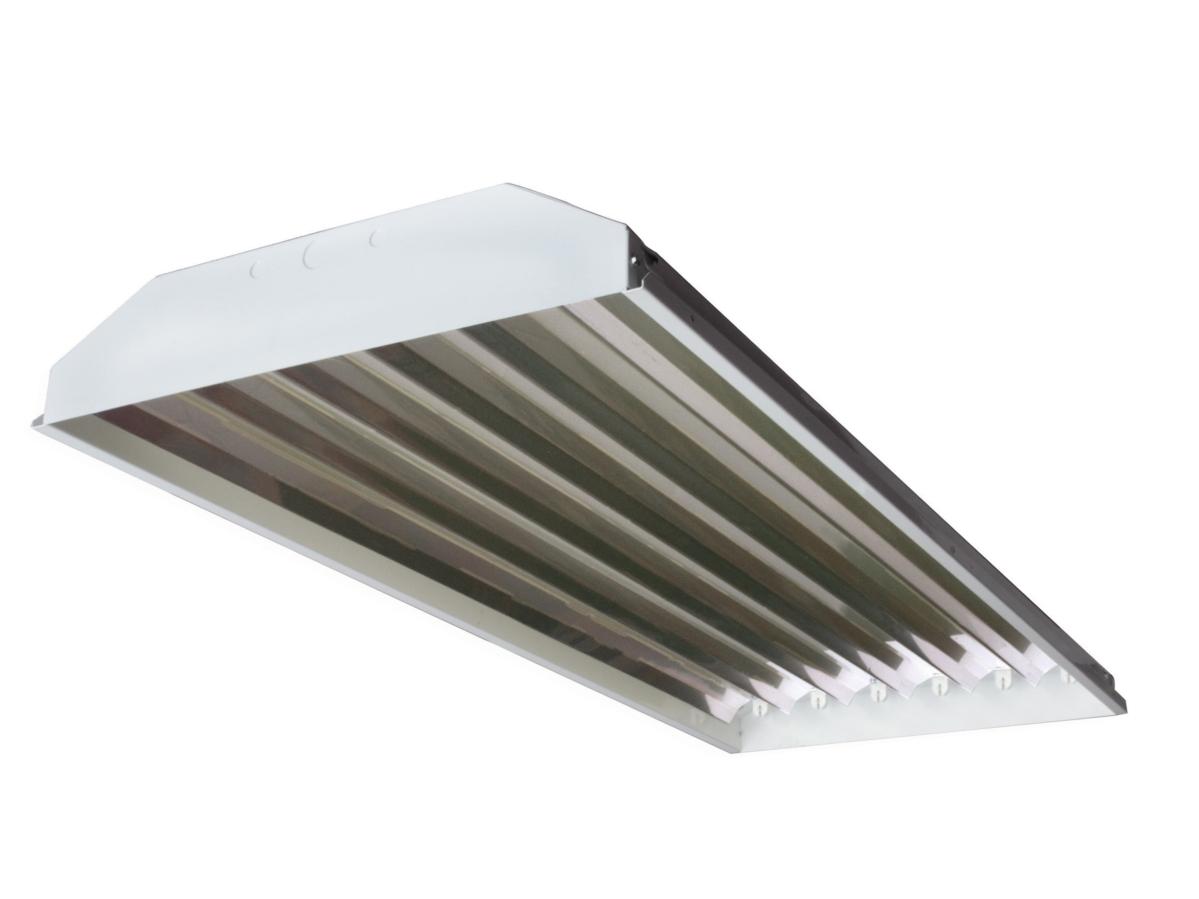 Fluorescent high bays shop light t8 fluorescent fixture 6 lamp 32w