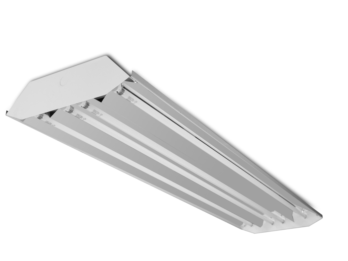 Fluorescent high bays 4 lamp 54w t5 high bay curved fluorescent fixture
