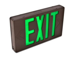 LED exit green letters HL0201B2GB