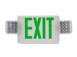 emergency exit light HL02143GW green
