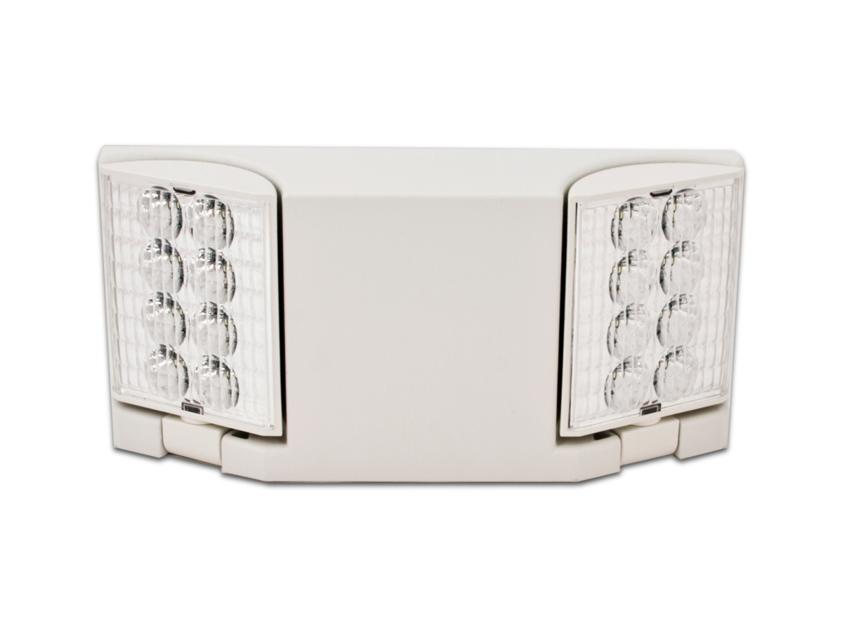 Emergency lights white case housing led emergency light fixture