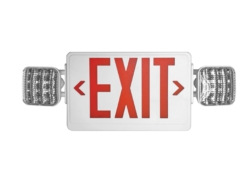 exit sign red letters HL03143RW