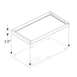 LFP-SMK24 2x4 Surface Mounting Kit