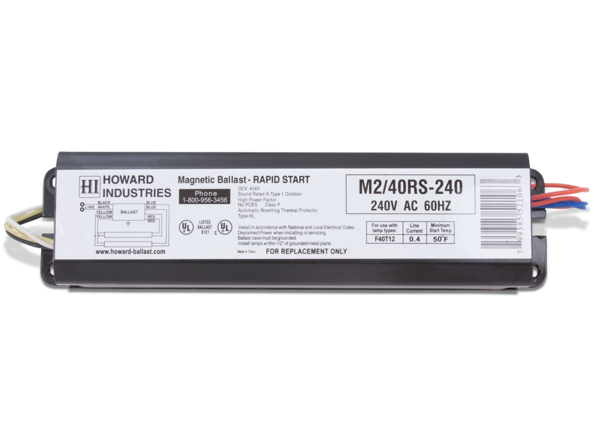 T12 Fluorescent Ballasts Products 2 Lamp F40t12 Magnetic