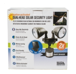 Solar-Powered Dual -Head LED Spotlight