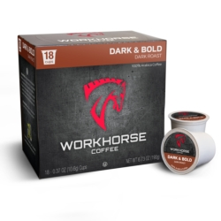 Workhorse Coffee Dark & Bold Coffee Pods (18ct box)