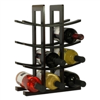 12-Bottle Wine Rack in Dark Espresso Finish Bamboo