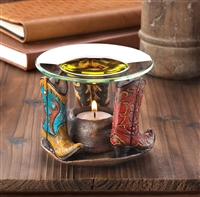 Western Cowboy Boots Candle Oil Warmer