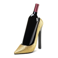 Stunning Gold Shoe Wine Holder