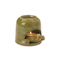 Green Porcelain Turtle Oil Warmer