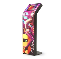 The Armodilo AURA tablet and iPad kiosk stand is one of the most attractive customizable tablet display systems. AURA will give you maximum exposure and flexibility for your tablet display goals from info kiosks, to check-in & registration.